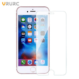 Vrurc Tempered Glass Screen Protector for iPhone 7 7 plus 6 6s Plus 5 5s 5c SE 4 4s protective guard film front case cover - Yakir China Store