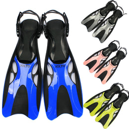 child adult snorkeling  flippers for hands