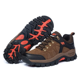 Men Outdoor Shoes Hiking Leather Boots  Waterproof Camping Climbing Hiking Shoes Sports - Yakir China Store