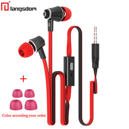 Original Langsdom JM21 JV23 earphones with Microphone Super Bass Earphone Headset For iphone 6 6s xiaomi earphone smartphone - Yakir China Store