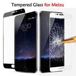 Full Cover Tempered Glass Screen Protector For Meizu