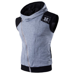 Mens Sleeveless Sweatshirt Gym  Tank  Sporting Hooded for Men Cotton