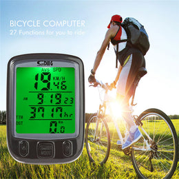 Multifunction Bicycle Computer Waterproof Cycling  Bike Computer Speedometer with LCD Green Backlight - Yakir China Store
