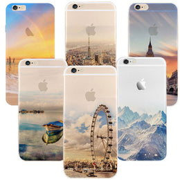 Newest fashion For iPhone 5s 7 6 6S case Ultra Thin Soft Silicon Mountain Landscape For iphone 7 6plus Case Phone Cover cases - Yakir China Store