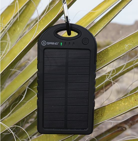 Solar powered battery pack