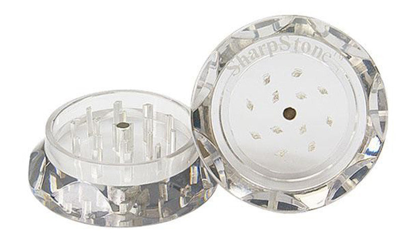 DISCONTINUED 56mm Sharpstone 2pc Clear Acrylic Grinder