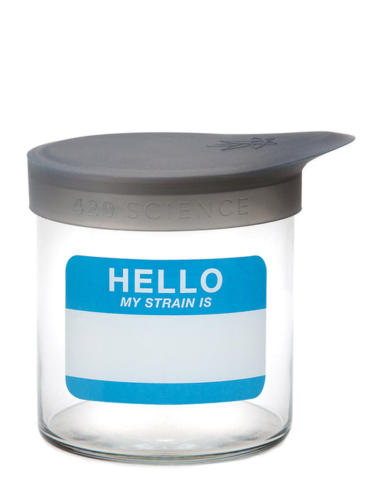 DISCONTINUED Medium Wide-Mouth Jar w/ Silicone Lid (710ml) - 420 Science