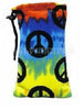 Tie-Dye Peace Sign Velvet Bug Rugz Padded Pouch - Large