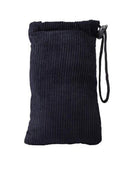 Black Corduroy Bug Rugz Padded Pouch - Large