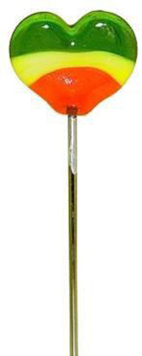 "DISCONTINUED 5"" Glass Hair Pin/Poker Tool - Flat Heart"