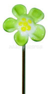 "5"" Glass Hair Pin/Poker Tool - Flower"