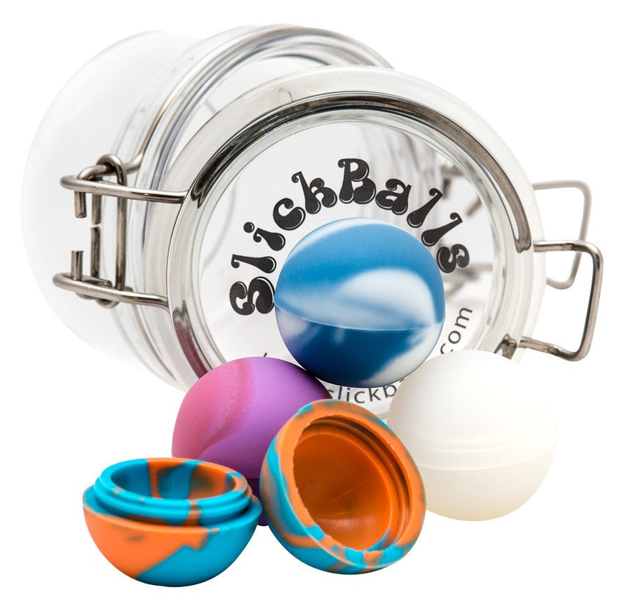 DISCONTINUED Oil Slick 32mm Slick Ball Minis w/ Acrylic Jar