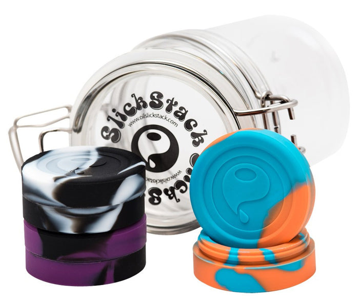 DISCONTINUED Oil Slick 3pc Slick Stack w/ Acrylic Jar