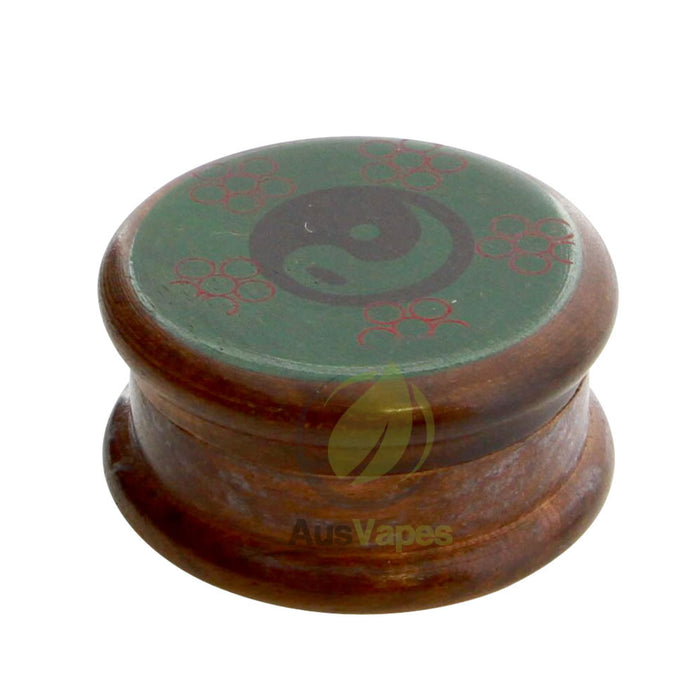 DISCONTINUED 51mm 2pc Wood Grinder w/ Yin Yang Design