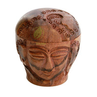 51mm Carved Buddha Wooden Grinder (2pc)
