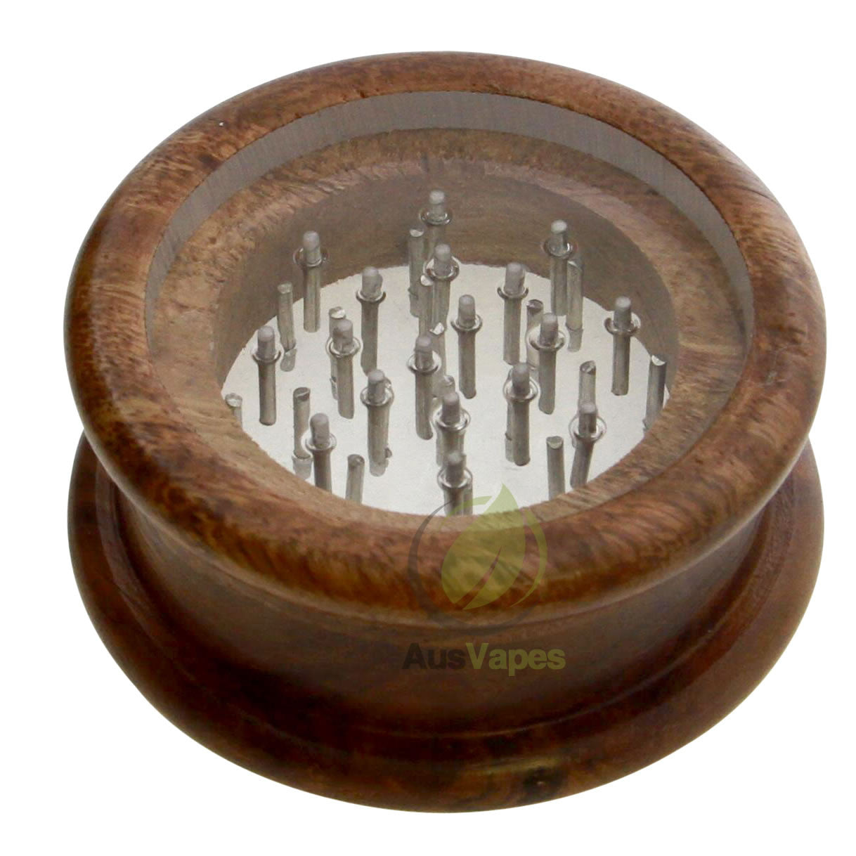 DISCONTINUED 64mm 2pc Clear Top Wooden Grinder