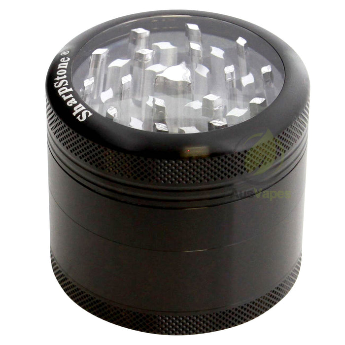 DISCONTINUED Sharpstone 56mm Clear Top 4pc Grinder - Black