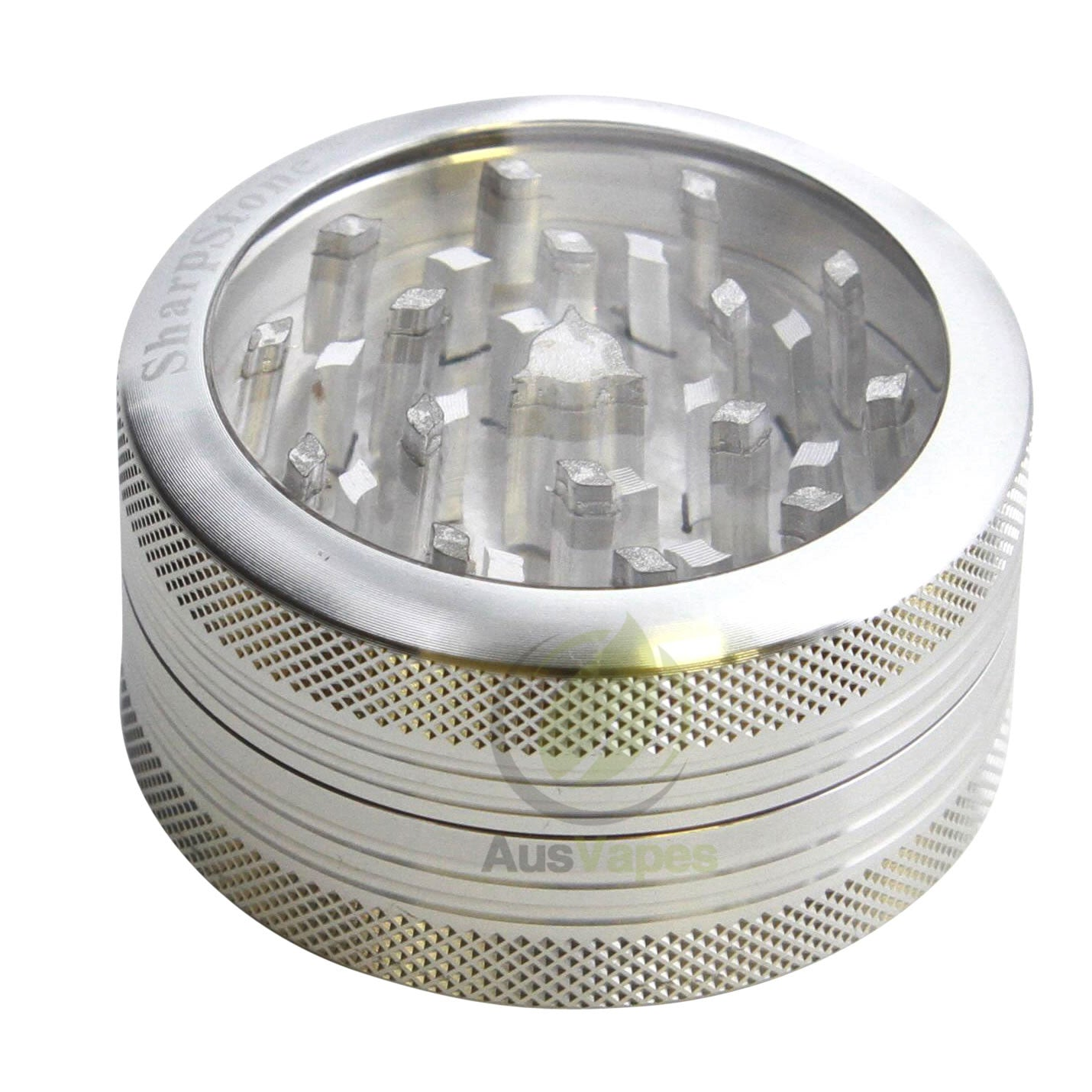 DISCONTINUED Sharpstone 56mm 2pc Clear Top Push-Clean Grinder