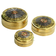 3pc Nested Brass Containers - Wire Weave