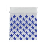 50mm x 50mm Apple Bags - Star Print  - 100 Pack