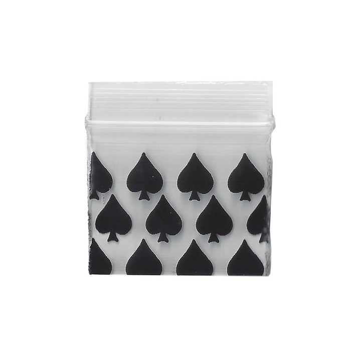 32mm x 25mm Apple Bags - Spade Print - 100 Pack