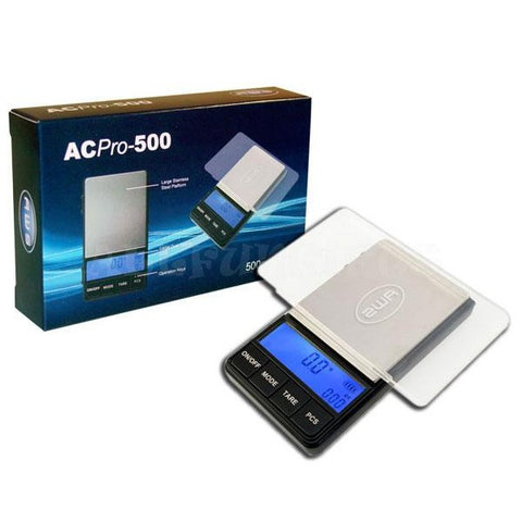 AC PRO-500 Digital Scale w/Large Plate & Tray - 500g x 0.1g