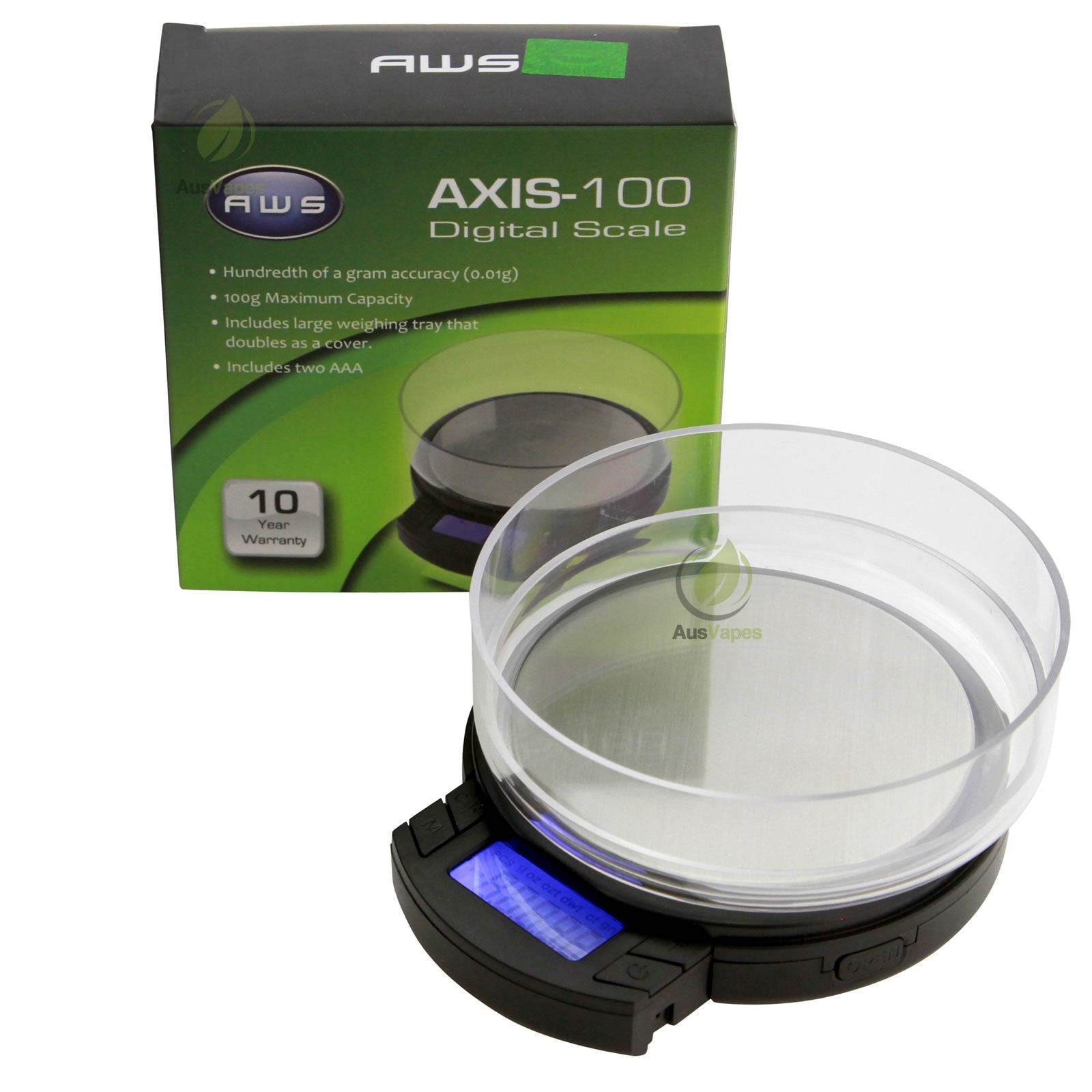 DISCONTINUED AWS AXIS-100 Digital Pocket Scale 100g x 0.01g