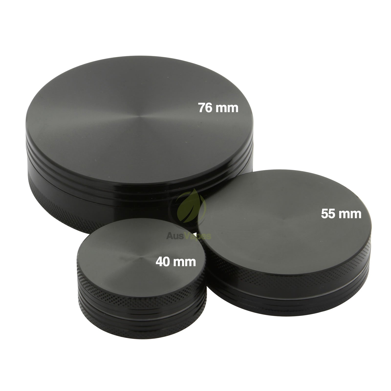Black Aluminium Grinder 55mm - 2 pc.