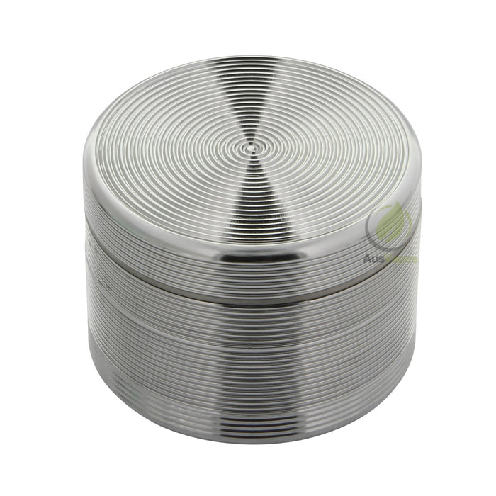 Grey Ripple Aluminium Grinder 55mm - 4 pc.
