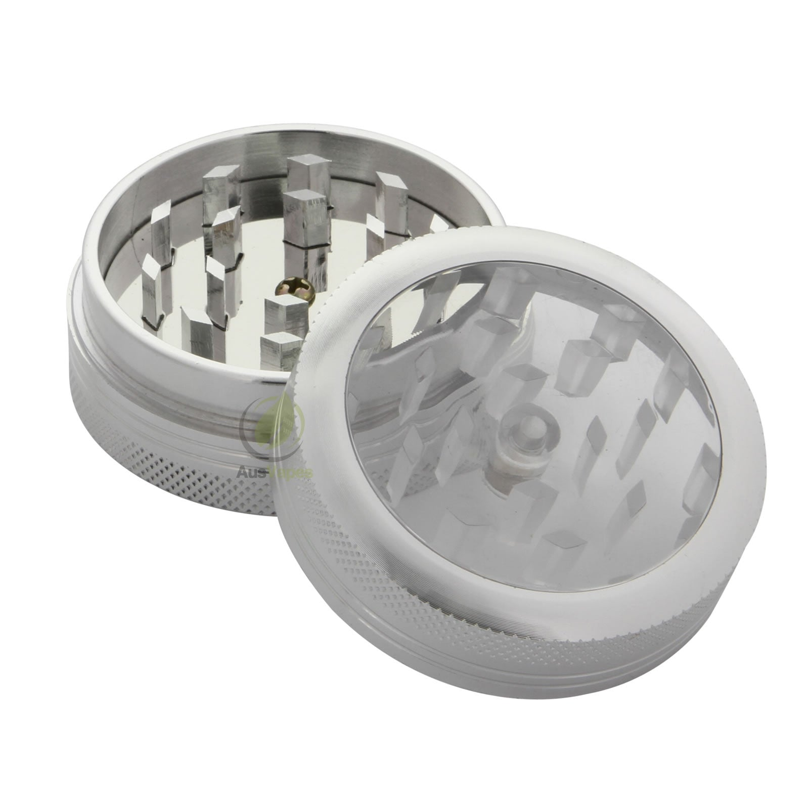 Silver Aluminium Clear Top Grinder 50mm - 2 pc.