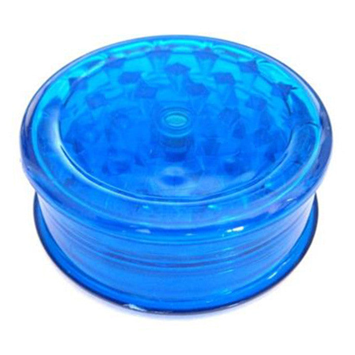DISCONTINUED Blue Acrylic Herb Grinder 63mm - 3 pc.