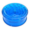 Blue Acrylic Herb Grinder 63mm - 3 pc.