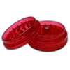Red Acrylic Herb Grinder 63mm - 3 pc.