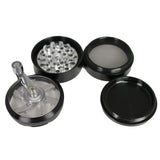 Aerospaced Black Aluminium Mill Top Grinder 56mm - 4pc.
