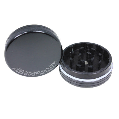 DISCONTINUED Aerospaced Black Aluminium Grinder 56mm - 2pc.