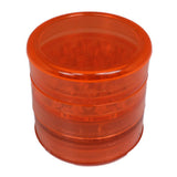 Aerospaced Orange Acrylic Grinder 58mm - 5pc.