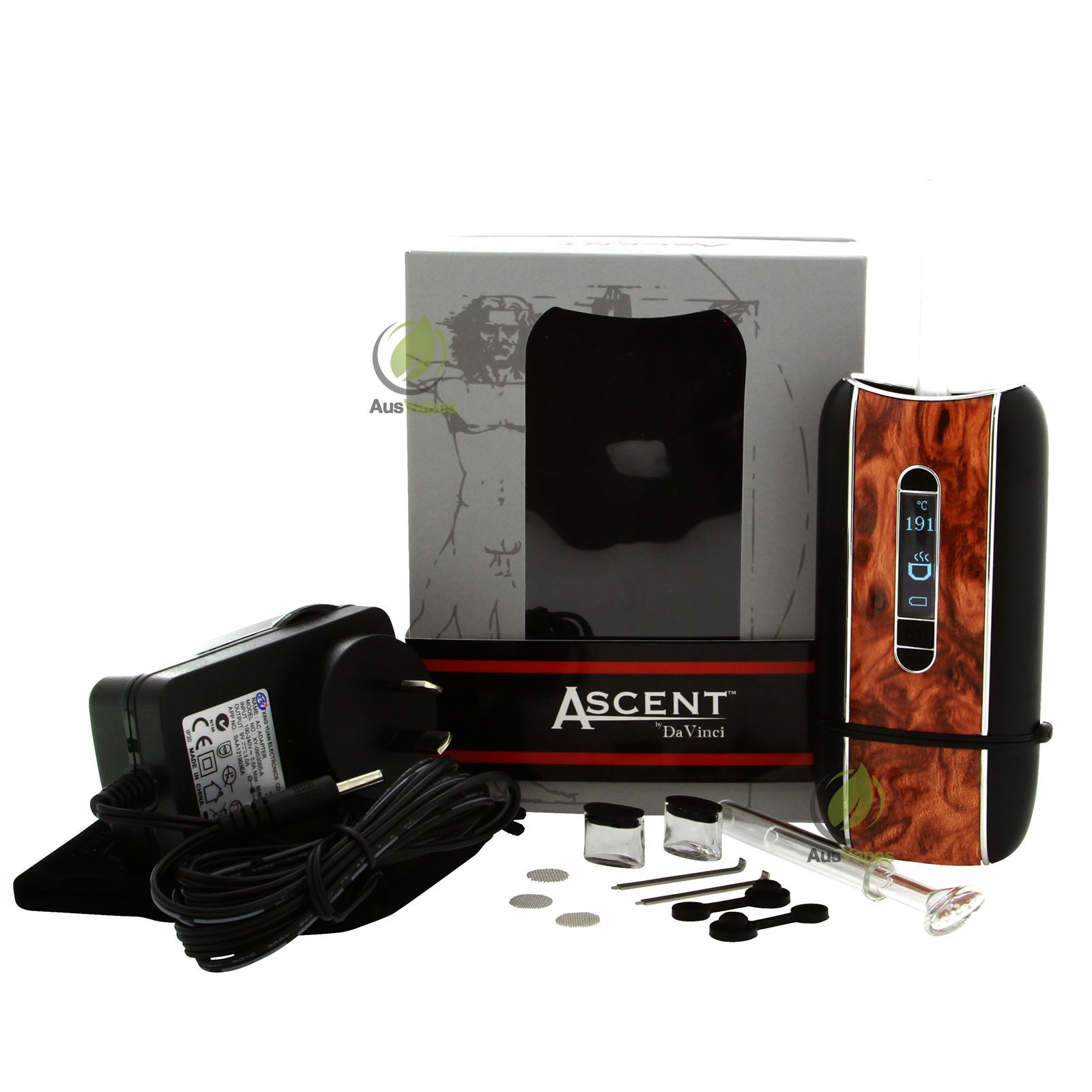 davinci ascent vaporizer kit wood edition