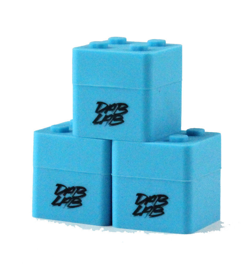 DISCONTINUED Dab Lab Silicone Stacking Cube - Blue