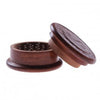 64mm Carved Wooden Grinder w/ Yin Yang Design (2pc)