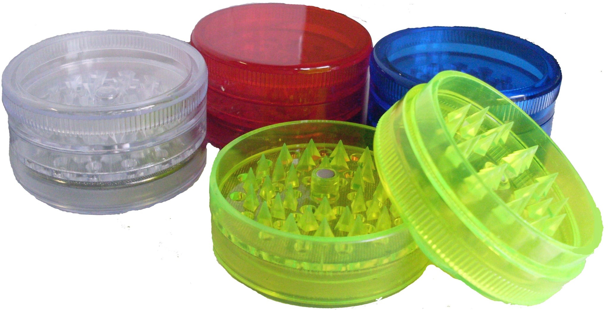 DISCONTINUED Plastic Herb Grinder/Sifter 60mm 3pc