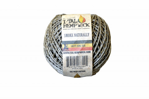 I-Tal Hemp Wick King Size 100 ft Spool