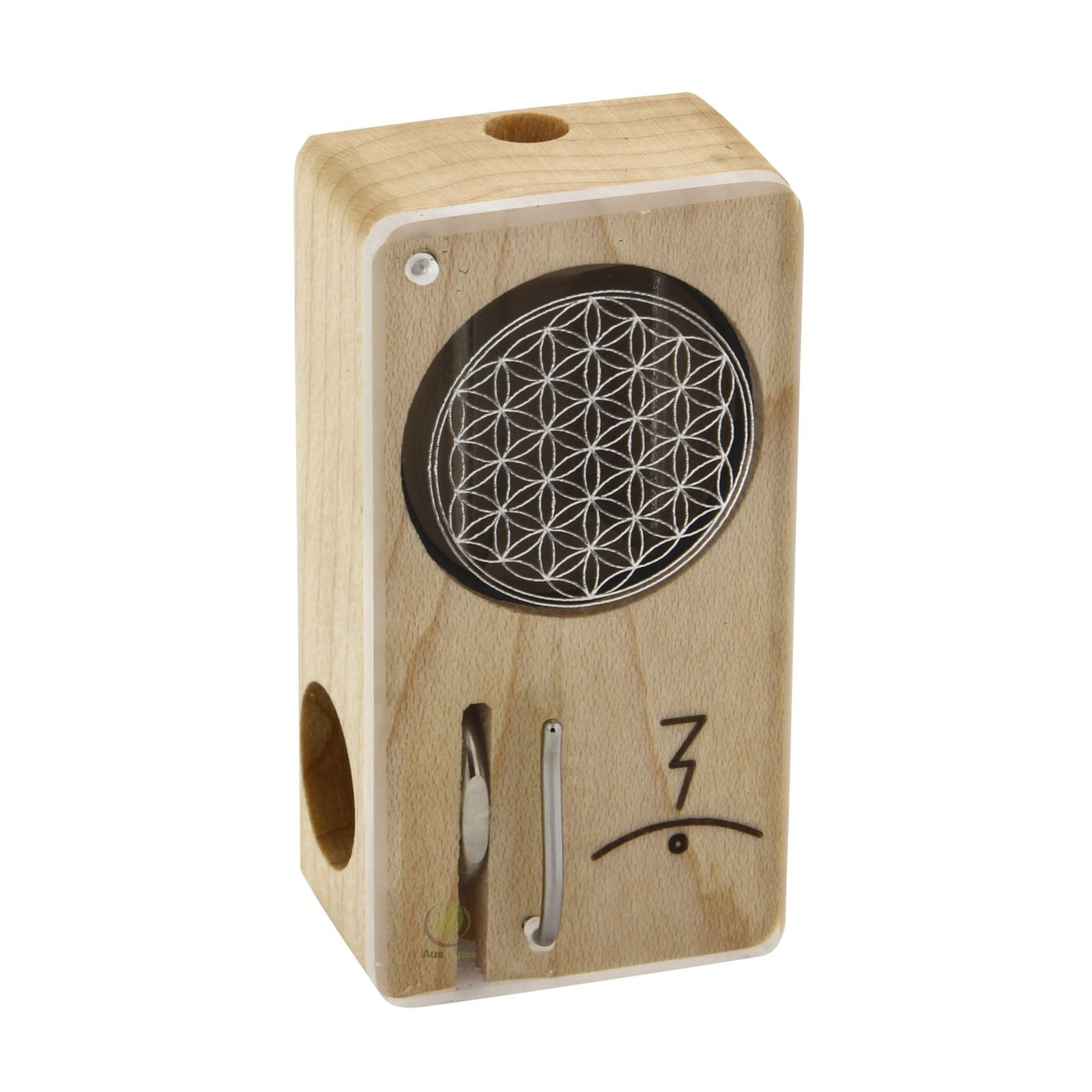 Magic Flight Launch Box with Laser Etching Flower of Life Style