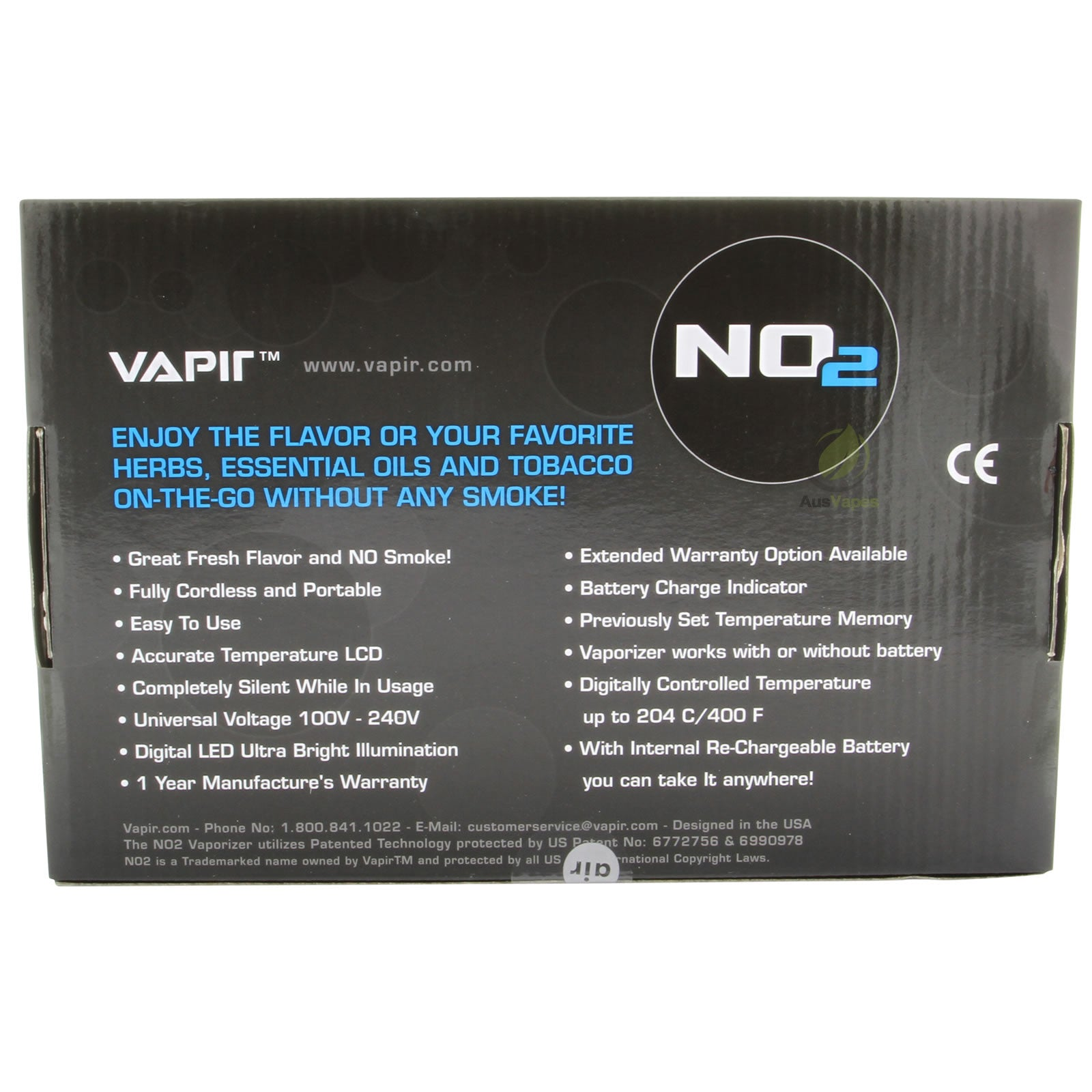 Vapir V2 Vaporizer instruction manual
