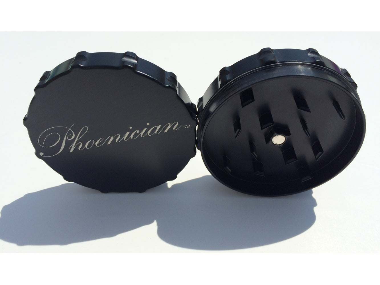 Phoenician Herb Grinder 2pc. - Large-Black