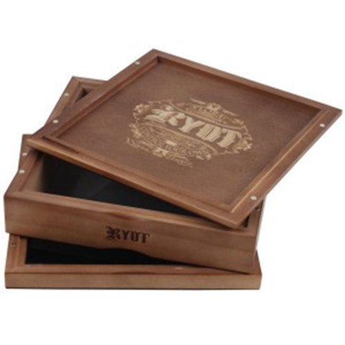 DISCONTINUED RYOT 178mm x 178mm Solid Top Screen Box in Walnut