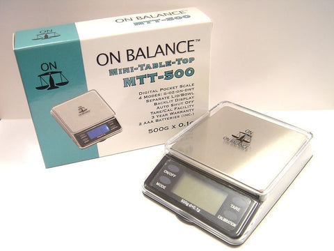 On Balance MMT-500 Mini Digital Table Top Scale 500g x 0.1g