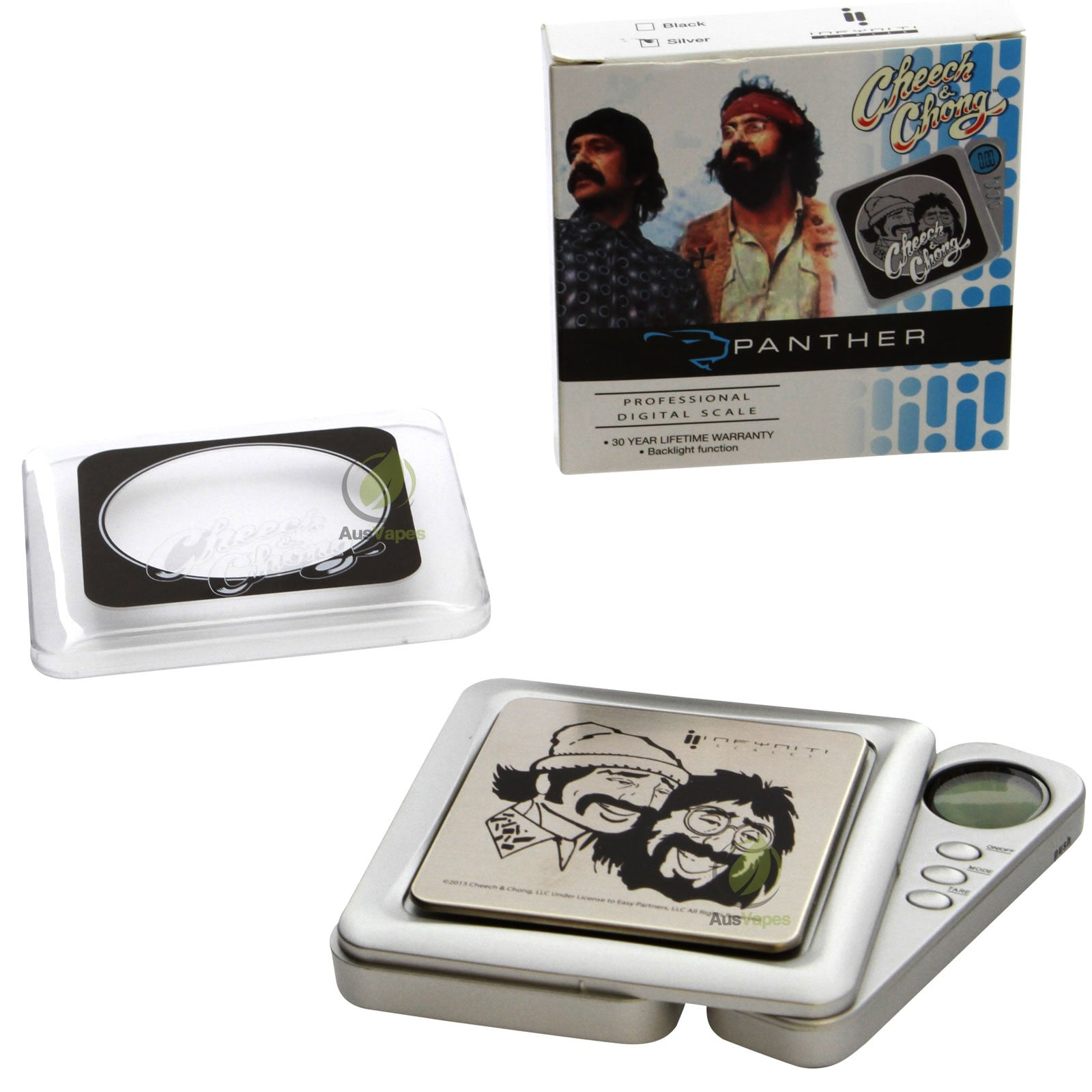 DISCONTINUED Infyniti Cheech & Chong Panther Digital Pocket Scale 50g x 0.01g