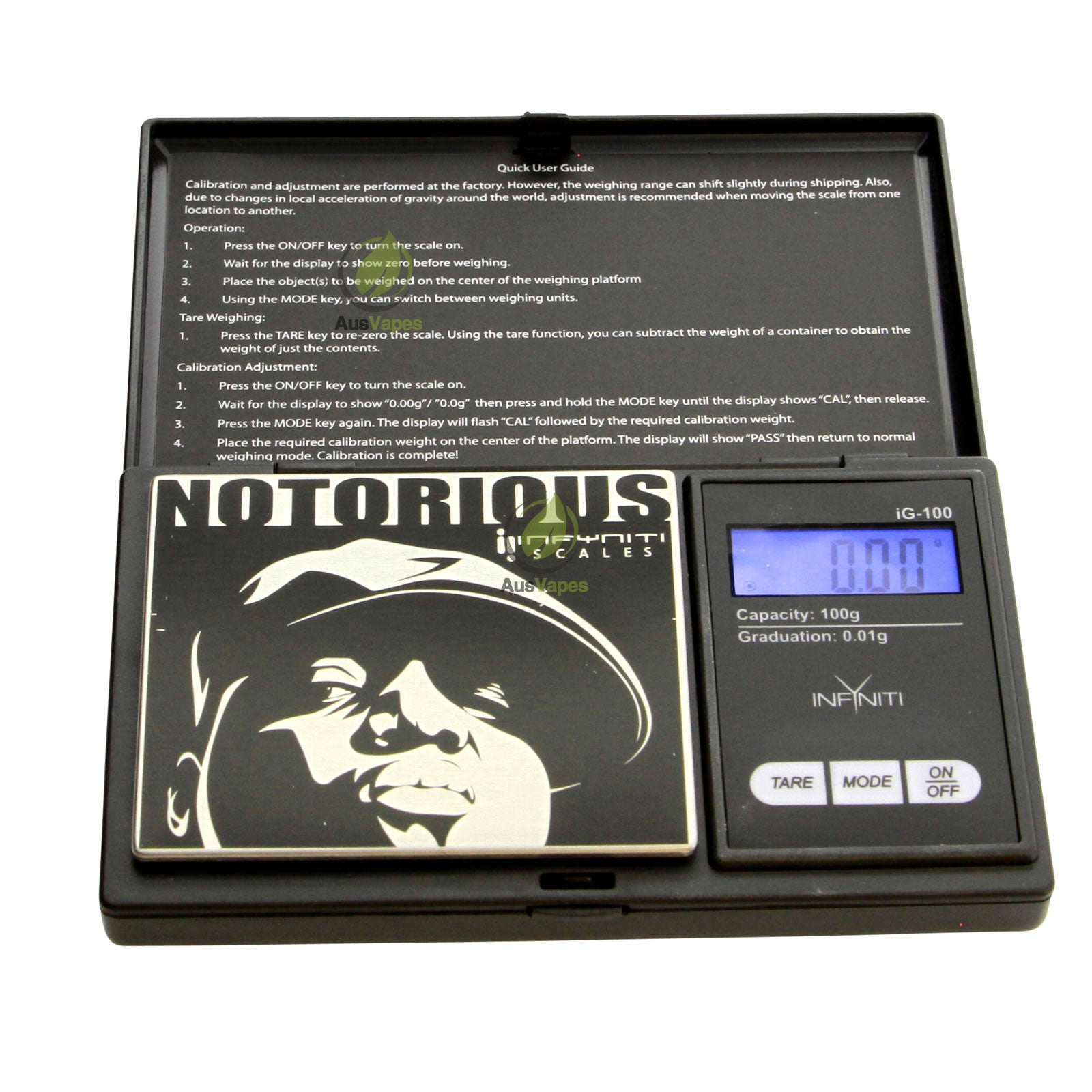 DISCONTINUED Infyniti BGG-100 Notorious B.I.G G-Force Digital Pocket Scale 100 x 0.01g