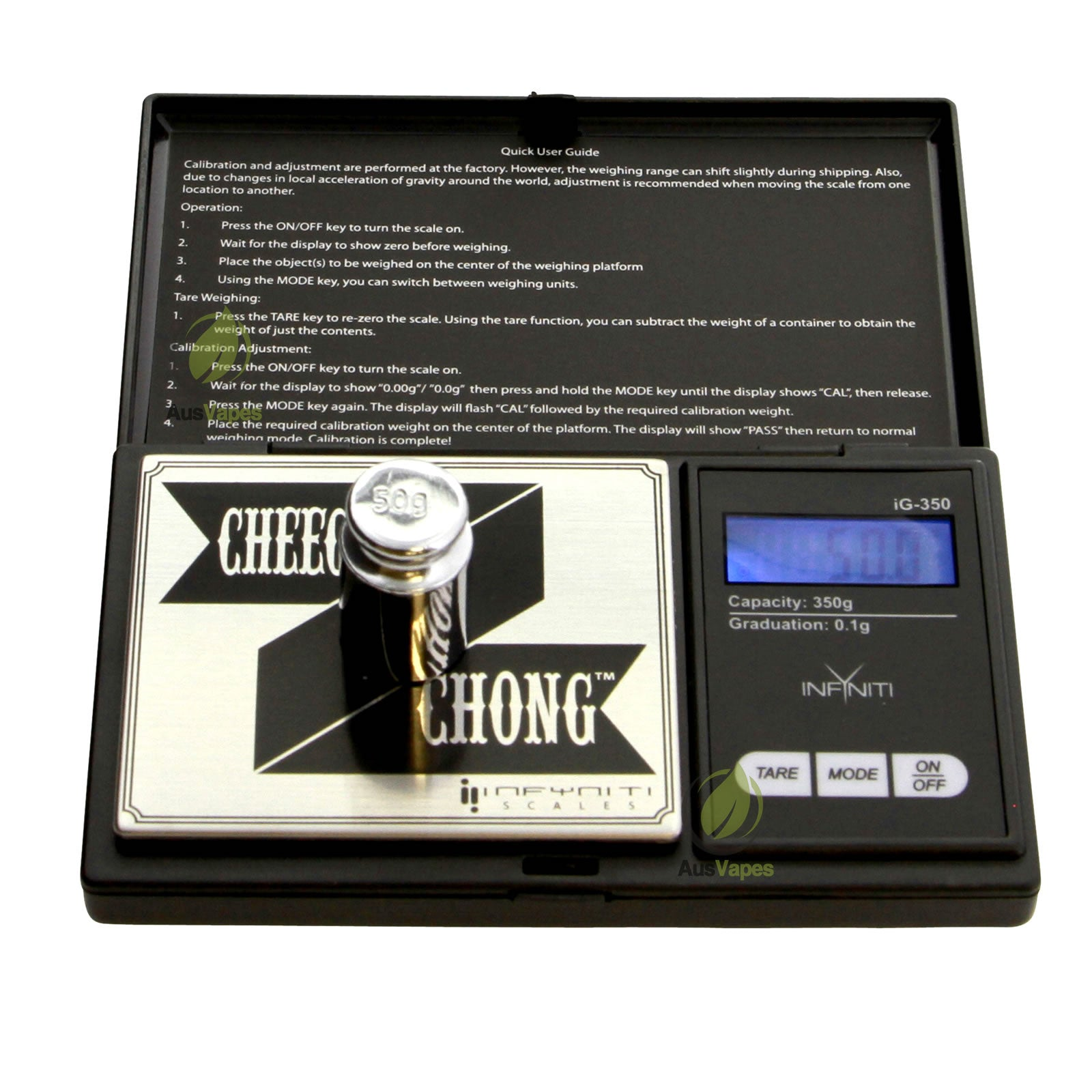 DISCONTINUED Infyniti CHCG-350 Cheech and Chong G-Force Digital Pocket Scale 350 x 0.1g