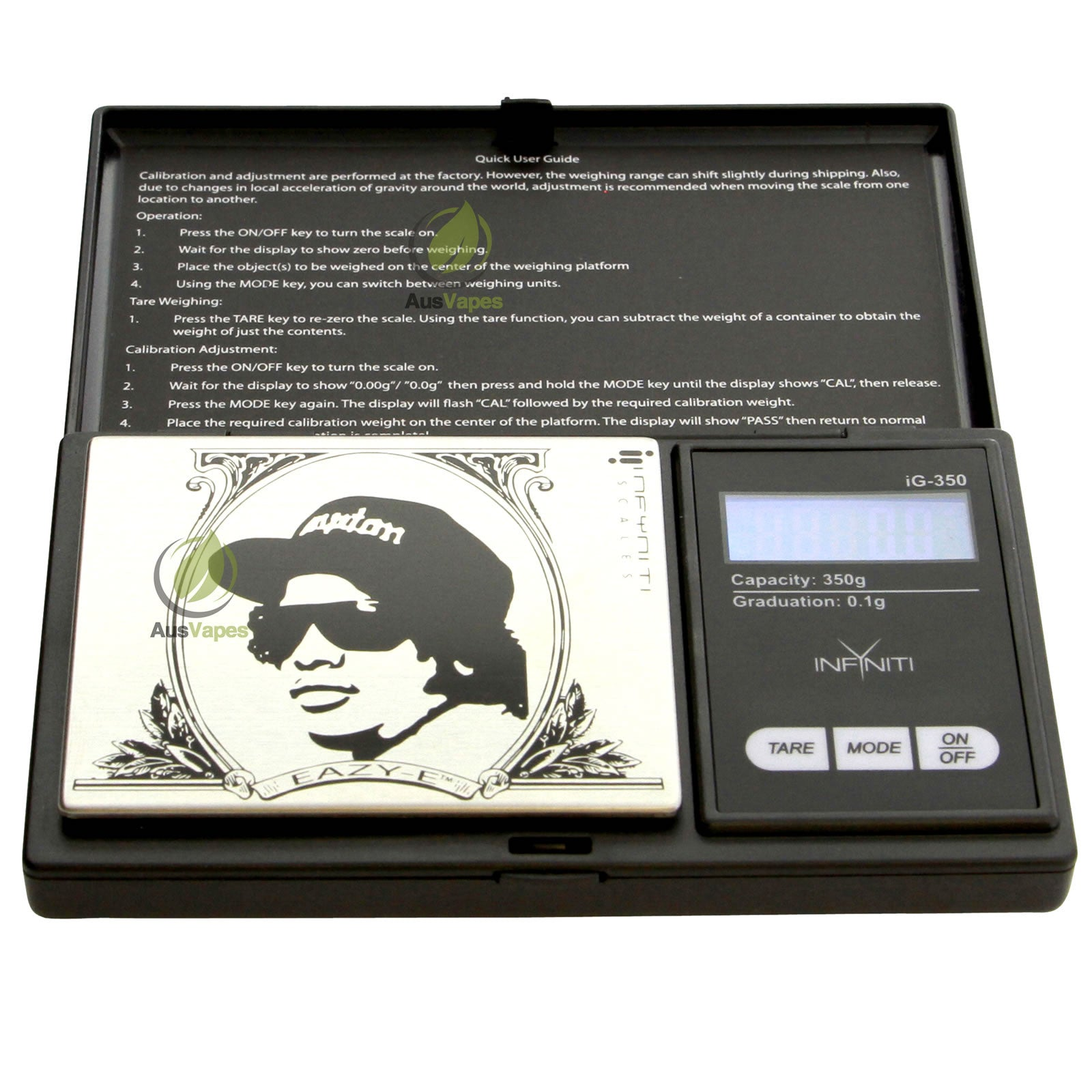 DISCONTINUED Infyniti EZG-350 Eazy-E G-Force Digital Pocket Scale 350 x 0.1g